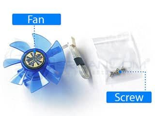 PCCooler SPA92 LED Fan 87mm